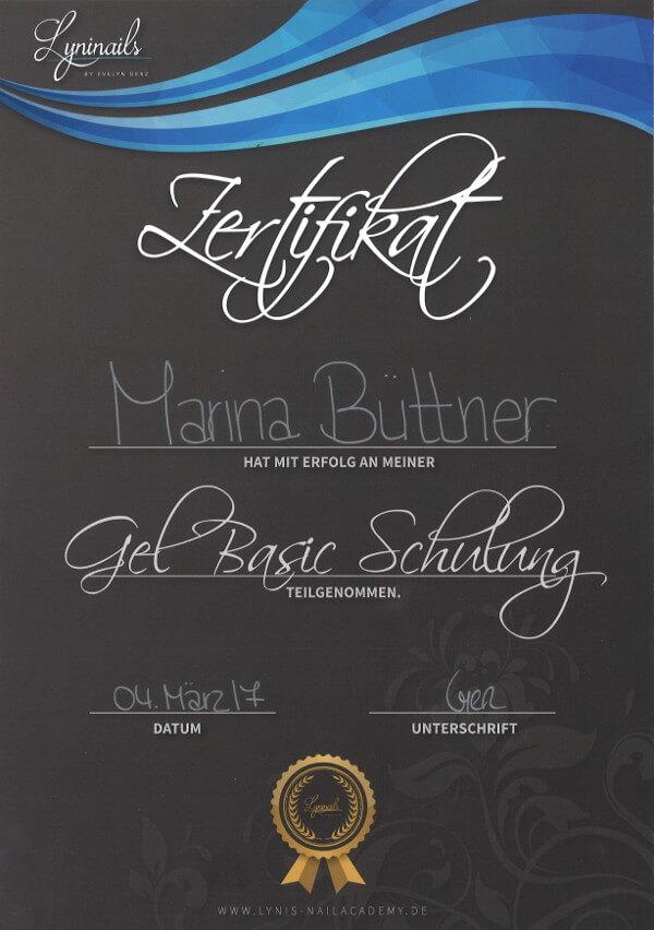 Zertifikat Gel Basic